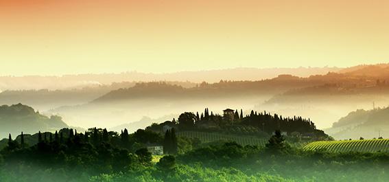 Amanecer en la Toscana