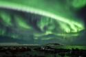 Aurora boreal sobre la isla de Hornoya
